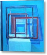 All Square And Blue Metal Print