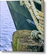 All Tied Up In Port Jefferson No 1 Metal Print