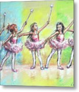 All Together Now...first Ballet Recital Metal Print