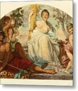 Allegory Of Agriculture Metal Print