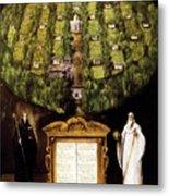 Allegory Of Camaldolese Order 1600 Metal Print