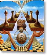 Allegory Of Chess. Equal Exchange Metal Print