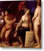 Allegory Of Music 1522 Metal Print