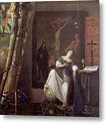 Allegory Of The Faith Metal Print by Jan Vermeer