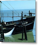 Allen Cody Of The Del Monte Fishing Co. And A Fin Whale 1967 Metal Print