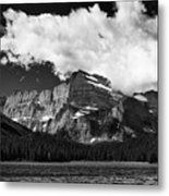 Allen Mountain Towers Over Swift Current Lake Metal Print