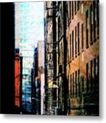 Alley Abstract #2 Metal Print