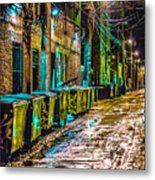Alley In Uptown Chicago Dsc2687 Metal Print