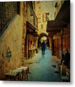 Alley Of Old Sidon Metal Print