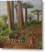 Alley Of The Baobabs Metal Print