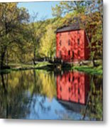 Alley Spring Mill Reflection Metal Print