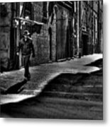 Alley Stroll Metal Print