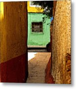 Alley With The Green Casa Metal Print