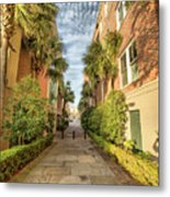 Alleyway In Chaleston Metal Print