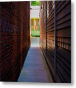 Alleyway To Green Metal Print