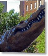 Alligator Statue 4 Metal Print