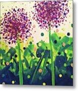 Allium Explosion Metal Print