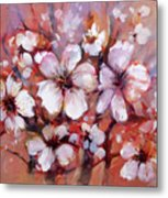 Almonds Blossom  8 Metal Print