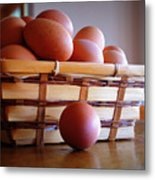 Almost All My Eggs In One Basket Metal Print