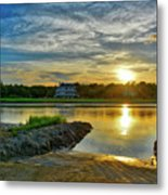 Almost Sunset In Pawleys Island Metal Print