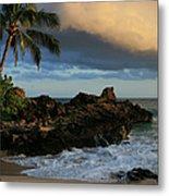Aloha Naau Sunset Paako Beach Honuaula Makena Maui Hawaii Metal Print