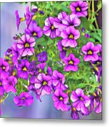Aloha Purple Sky Calibrachoa Abstract I Metal Print