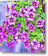 Aloha Purple Sky Calibrachoa Abstract II Metal Print