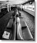 Alone At The Airline Gate Metal Print