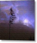 Alone In The Blue Fog Metal Print