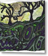 Alone In The Woods Metal Print