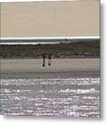 Alone On The Beach Metal Print