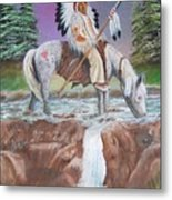 Alone With The Great Spirit Metal Print by Janna Columbus