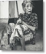 Balinese Old Woman Metal Print