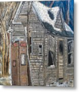 Along A Cold Country Road Metal Print