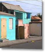 Along Bay Road Metal Print