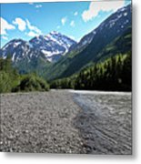 Along Eagle River- Eagle River, Alaska Metal Print