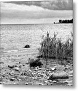 Along Lake Huron Cloudy Day Metal Print