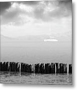 Along The Breakwater Metal Print