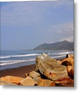 Along The Californian Coast Metal Print