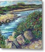 Along The Connecticut Shore Metal Print