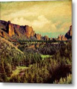 Along The Crooked River Metal Print