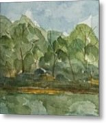 Floating Along The Etowah River Metal Print