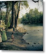 Along The Mississinewa River Metal Print