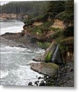 Along The Oregon Coast - 7 Metal Print