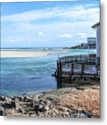 Along The Peaceful Shores  Metal Print
