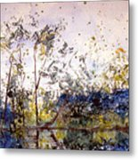 Along The River Bank Metal Print