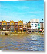 Along The River Thames Metal Print