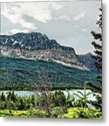 Along The Road To Many Glacier 4 Metal Print