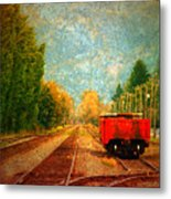 Along The Tracks Metal Print