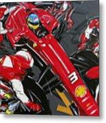 Alonso Ferrari 3 Metal Print